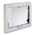 Dometic Seitz S4 Top-Hung Hinged Opening Window - 550mm x 580mm, Windows for Caravan Motorhome Campervan - Grasshopper Leisure